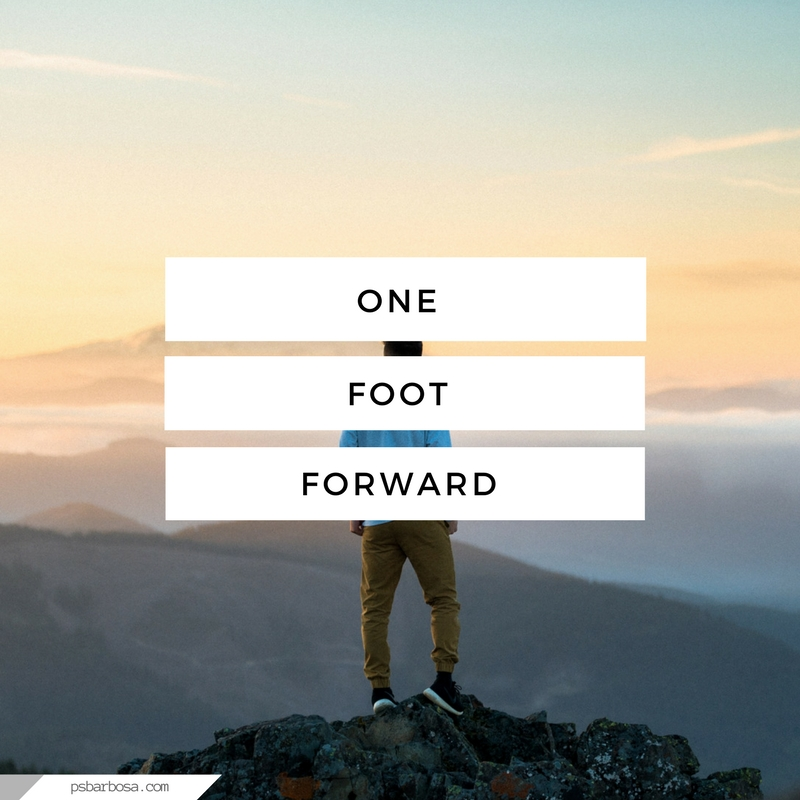 PSB - One Foot Forward - Life and Blogging